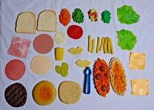 MTC PLAY FOOD LOT * 1987 * 30+ Pieces - Spaghetti Hamburger Kitchen Vintage Veg