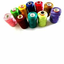 Silk Thread 10 Spools Multicolour for Bangle-Jhumka-Jewellery Designing