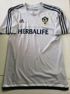 LA Galaxy Men's Size Medium Adidas Adizero Training Jersey Grey