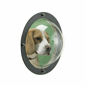 Acrylic Pet Cats Puppy Dogs House Sight Window Dome Insert Fence Safe Flap Door