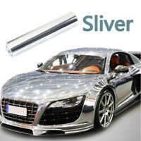 "12""x 60"" Auto Cars Folie Aufkleber Spiegel-Chrom Silber Hochglanz Blasenfrei Neu"