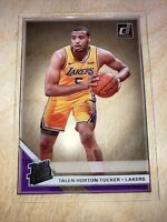 2019-20 Panini Clearly Donruss Rated Talen Horton-Tucker #98 Rookie Los Lakers
