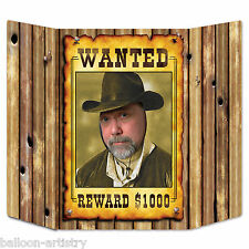 Wild West Western Cowboy Party WANTED Poster Photo Prop Scene Decoration