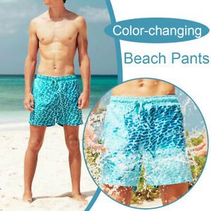 Summer Men Color-Changing Beach Pants Stone Dots Swim Trunks Shorts