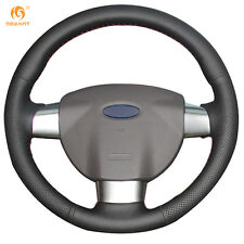 Black Artificial Leather Steering Wheel Cover Wrap for Ford Focus 2 2005-2011