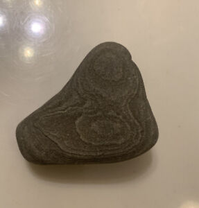 """Natural Rare One Of A Kind Rubber Duck Stone Art """"Le Rubber Duck"""""""