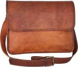 Bag Leather Vintage Shoulder Purse Crossbody Brown english Tote Handbag New