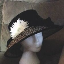 Gorgeous Dark Brown/ Ivory Wedding Hat by Plaza Suite New York BNWT RRP £67