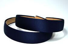 Navyblue Girl 3cm Wide Plastic Headband Hair Band Accessory Lots Satin  Headwear