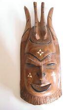 Ältere Holzmaske aus Afrika Teakholz hand-geschnitzt 47 cm hoch