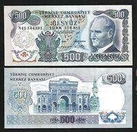 Turkey 500 Lira 1971 (1974) , UNC-  , P-190 , Prefix N 43