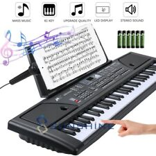Digital Piano Keyboard 61 Key - Portable Electronic Instrument with Stand & Mic