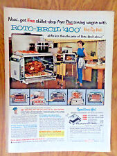 1955 Kitchen Roto-Broil 400 Ad  King Size Fiesta