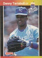 FREE SHIPPING-MINT-1989 Donruss  #61 Danny Tartabull ROYALS PLUS BONUS CARDS