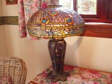 Large Tiffany glass table lamp