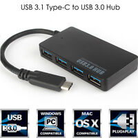 4 Ports USB-C 3.1 Type C to USB 3.0 Charging HUB Adapter Converter For Macbook