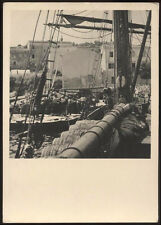 cartolina ISOLA D'ELBA imbarco del vino
