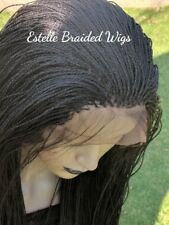 Braided Wig, Full Frontal Lace Wig With Baby Hair, Micro Twists, Full Density!