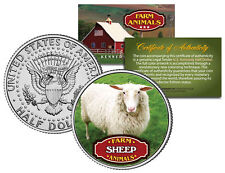 SHEEP * Collectible Farm Animals * JFK Kennedy Half Dollar U.S. Colorized Coin