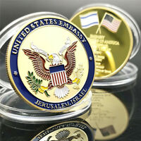 US Israel Jerusalem United States Embassy Trump Challenge Commemorative Coin