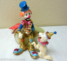 """Mwt Ron Lee Clown """"Sharing"""" H-209. #2298/5500 Hand Signed! 24k Gold Plated Accts"""