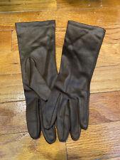 Vintage Brown Dress Gloves