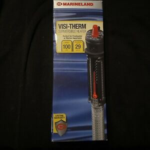 (New) Marineland Visi-Therm Submersible Heater 100 Watts up to 29 Gal BRAND NEW