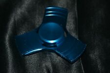 Dark Blue Metallic Aluminum Fidget Spinner Metal Tri Fecta Kids To Adults Toys