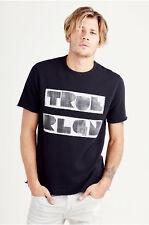 True Religion Men's TRLA Short Sleeve Sweatshirt Shirt in Black