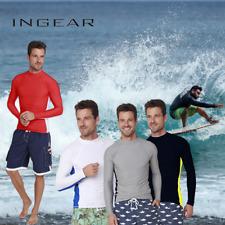 INGEAR Long Sleeve Rash Guard Swim Tee Surfing Shirt UPF 50+ Beachwear Sport
