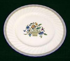 "Minton England Haddon Hall Trellis Blue Fine Bone China 10 1/2"" Dinner Plate VGD"