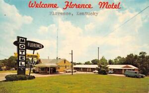 FLORENCE, Kentucky KY   FLORENCE MOTEL  Roadside  BOONE COUNTY  1971 Postcard