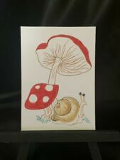 ACEO Original Screaming Snail Medium Black Ink Marker on Paper Signed Artist PH