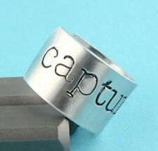Capture Life Camera Ring - Photographer Gift - Adjustable Aluminum Handstamped
