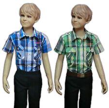 Markenlose Jungen-Hemden aus 100% Baumwolle für die Freizeit