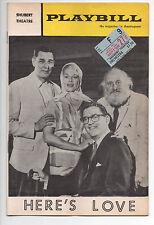 Here's Love Shubert Theatre Playbill 1963 Janis Piage Craig Stevens F Gwynne VG