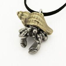 Hermit Crab Necklace - Hermit Crab Jewelry. Crab Pendant