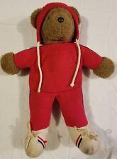 North American Bear Company 1979 Albert the Running Bear Plush Stuffed Teddy VTG