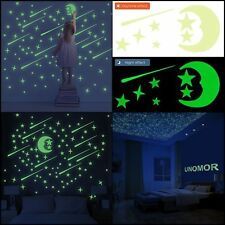 Glow in the Dark Stars Wall Stickers with Moon and Meteors,Décor Ceiling –216set