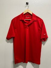 Nike Golf Fit Dry Men's XL Polo Shirt Activewear Sold Red Short Sleeve Casual