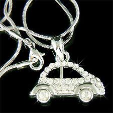 w Swarovski Crystal VOLKSWAGEN vw Beetle Classic CAR Pendant Charm Necklace Cute