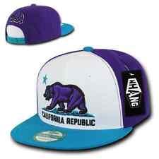 WHANG Flat Bill 3D California Cali Republic Bear Snapback Caps Cap Hats Hat Neon