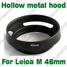 Leica M 46mm metal vented Lens Hood Shade for Panasonic GF1 GF2 Lumix 20mm/14mm