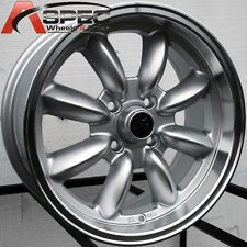15X7 ROTA RB WHEELS 4X114.3 RIMS ET12MM SILVER W/ POLISH LIP (SET OF 4 )