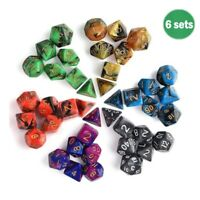42X Acrylic Dice Die for Dungeons & Dragons RPG D4 D6 D8 D10 D12 D20 D&D Games