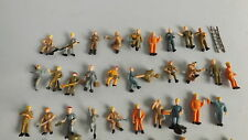 50 Bauarbeiter Arbeiter MIX Figuren HO SPUR 1:87  VERSANDFREI Konvolut.