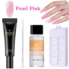 Quick Poly Extension Gel Slip Solution Nails Brush Tips Clip Spatula Stick Kits