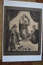 "1924 Black/white halftone print of ""Sistine Madonna"" by Raphael (1900-1949)"