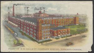 1928 E W Gillett Co Multicolour Advertising Cover, Toronto, Corner Fault
