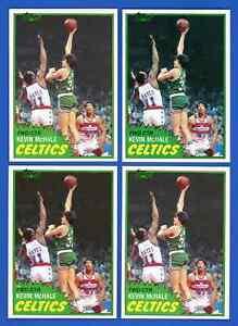 Lot of 4: 1981 Topps KEVIN MCHALE Rookie Cards #75 ~ NM - NM/MT ~ HOF CELTICS